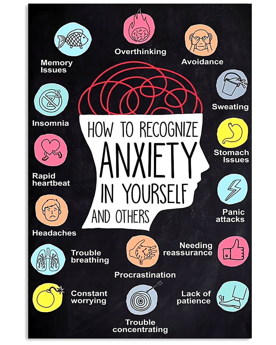 How To Recognize Anxiety In Yourself And Others 11x17 Poster