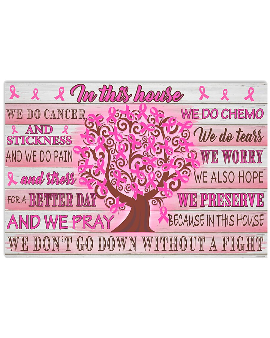 Breast Cancer We Do Cancer 17x11 Poster