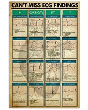 Can't Miss ECG Findings Cardiologist 11x17 Poster front