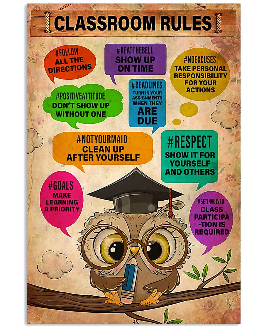 Teacher Classroom Rules  11x17 Poster