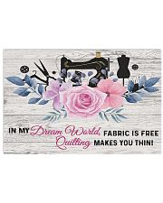 Sewing Quilting Makes You Thin 17x11 Poster front
