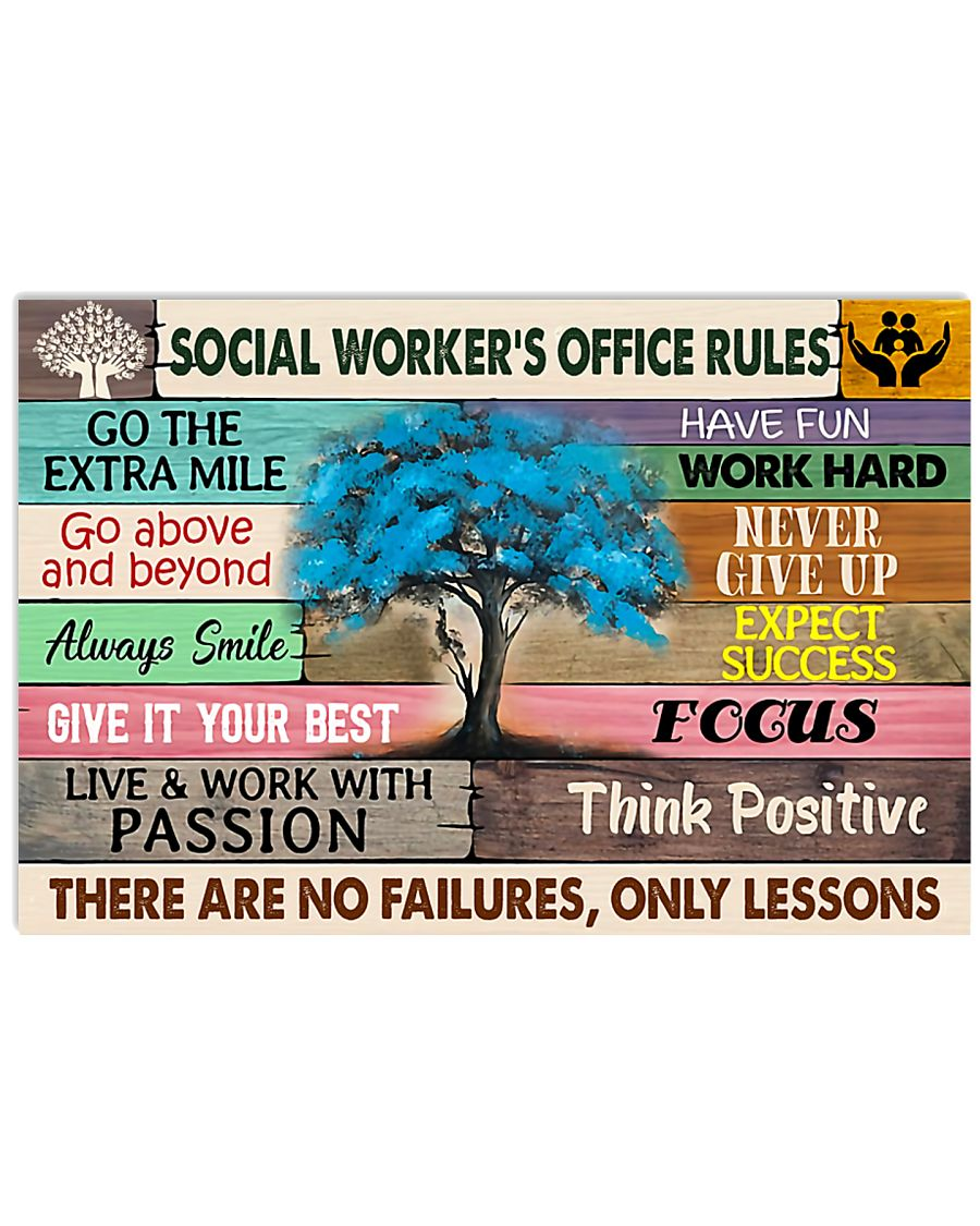 Social Worker's Office Rules 17x11 Poster