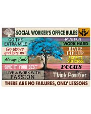 Social Worker's Office Rules 17x11 Poster front