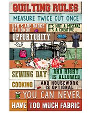 Quilting Rules Sewing  11x17 Poster front