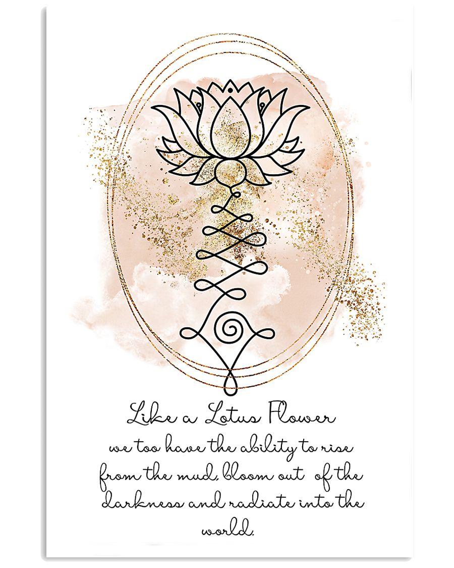Yoga Like a lotus flower 11x17 Poster