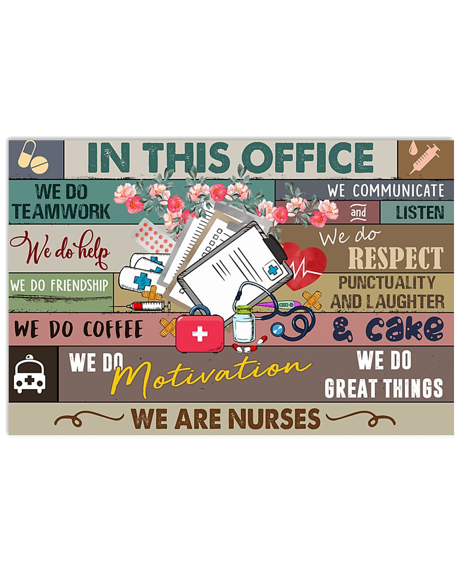 Nurse In this office Poster 17x11 Poster
