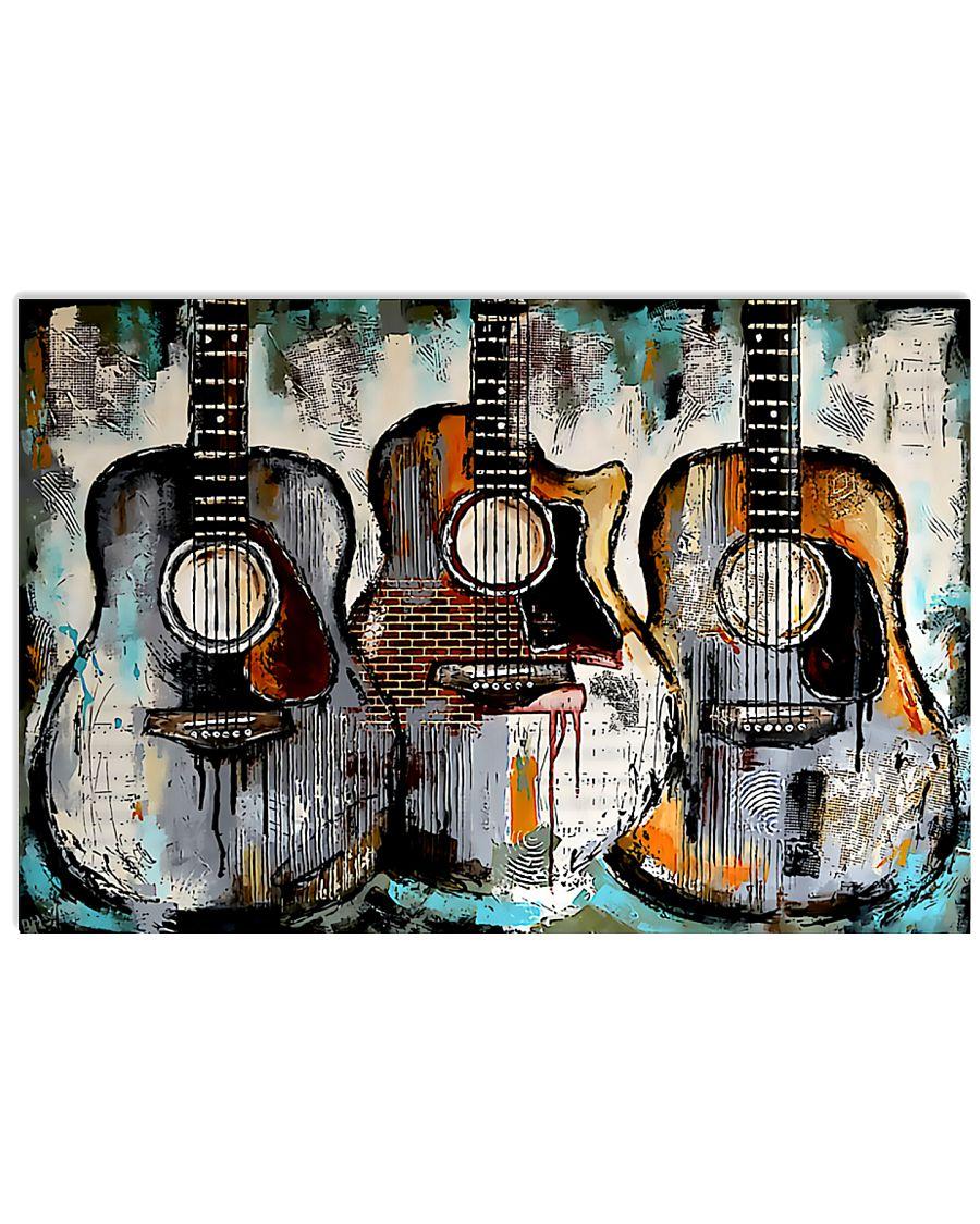 Art Vintage Guitars 36x24 Poster