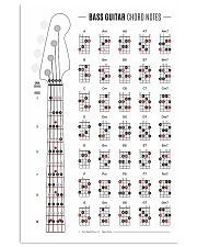 Bass Guitar Chord Notes 11x17 Poster front