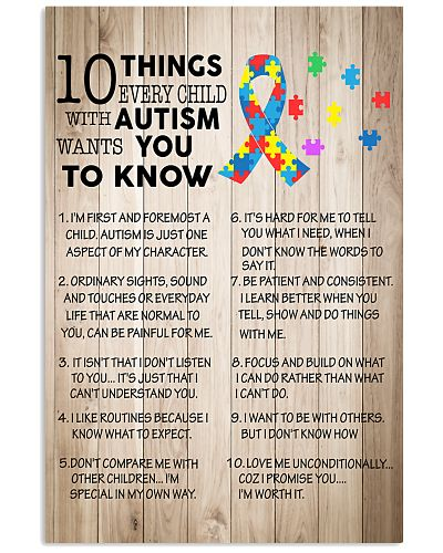 Autism awareness 10 things Autism want you to know