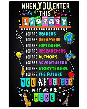 Librarian When You Enter This Library 11x17 Poster front