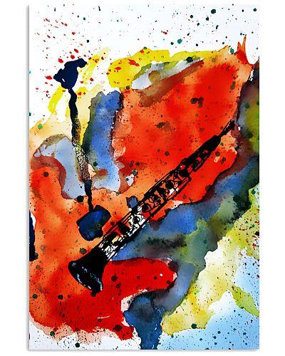 Clarinet Art Watercolor