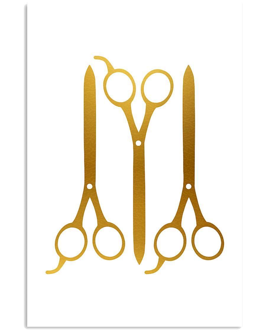 Hairdresser Golden Scissors 11x17 Poster