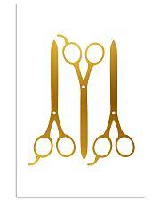 Hairdresser Golden Scissors 11x17 Poster front