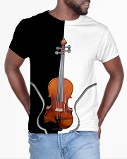 Violin Black And White All-over T-Shirt aos-all-over-T-shirt-lifestyle-front-04