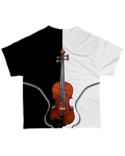 Violin Black And White All-over T-Shirt back