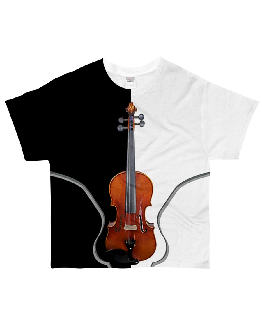 Violin Black And White All-over T-Shirt