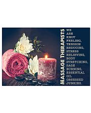 Massage Therapist Stress Relieving 24x16 Poster front