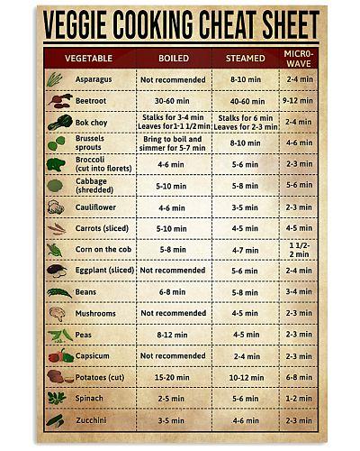 Vegan Veggie Cooking Cheat Sheet