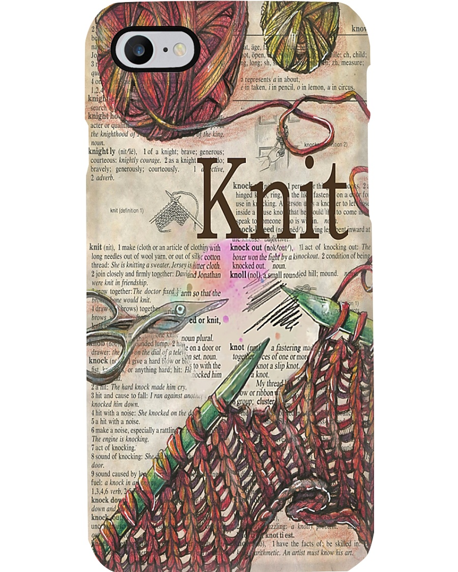 Crochet And Knitting - Knit Definition Phone Case