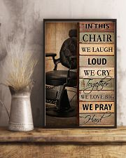 Hairdresser In This Chair We Love Big 11x17 Poster lifestyle-poster-3