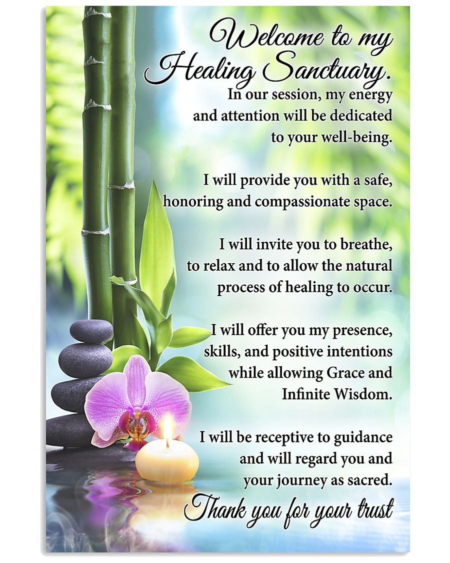 Massage Therapist Welcome To My Healing Sanctuary 11x17 Poster