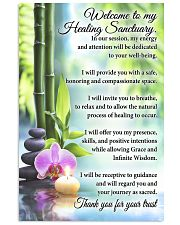 Massage Therapist Welcome To My Healing Sanctuary 11x17 Poster front