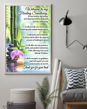 Massage Therapist Welcome To My Healing Sanctuary 11x17 Poster lifestyle-poster-1