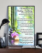 Massage Therapist Welcome To My Healing Sanctuary 11x17 Poster lifestyle-poster-2