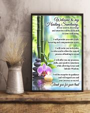 Massage Therapist Welcome To My Healing Sanctuary 11x17 Poster lifestyle-poster-3