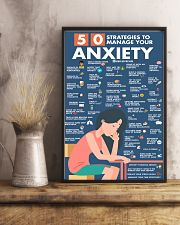 Social Worker 50 Strategies To Manage You Anxiety  11x17 Poster lifestyle-poster-3