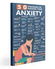 Social Worker 50 Strategies To Manage You Anxiety  20x30 Gallery Wrapped Canvas Prints thumbnail