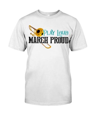 Trombonist Play loud March proud