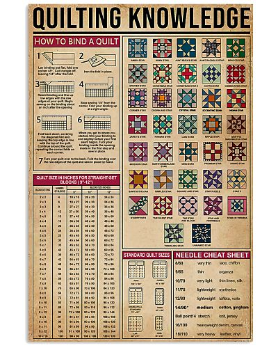 Quilting Knowledge Vintage Art Print