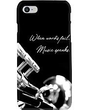 Trumpet When words fail Music speaks Phone Case i-phone-7-case