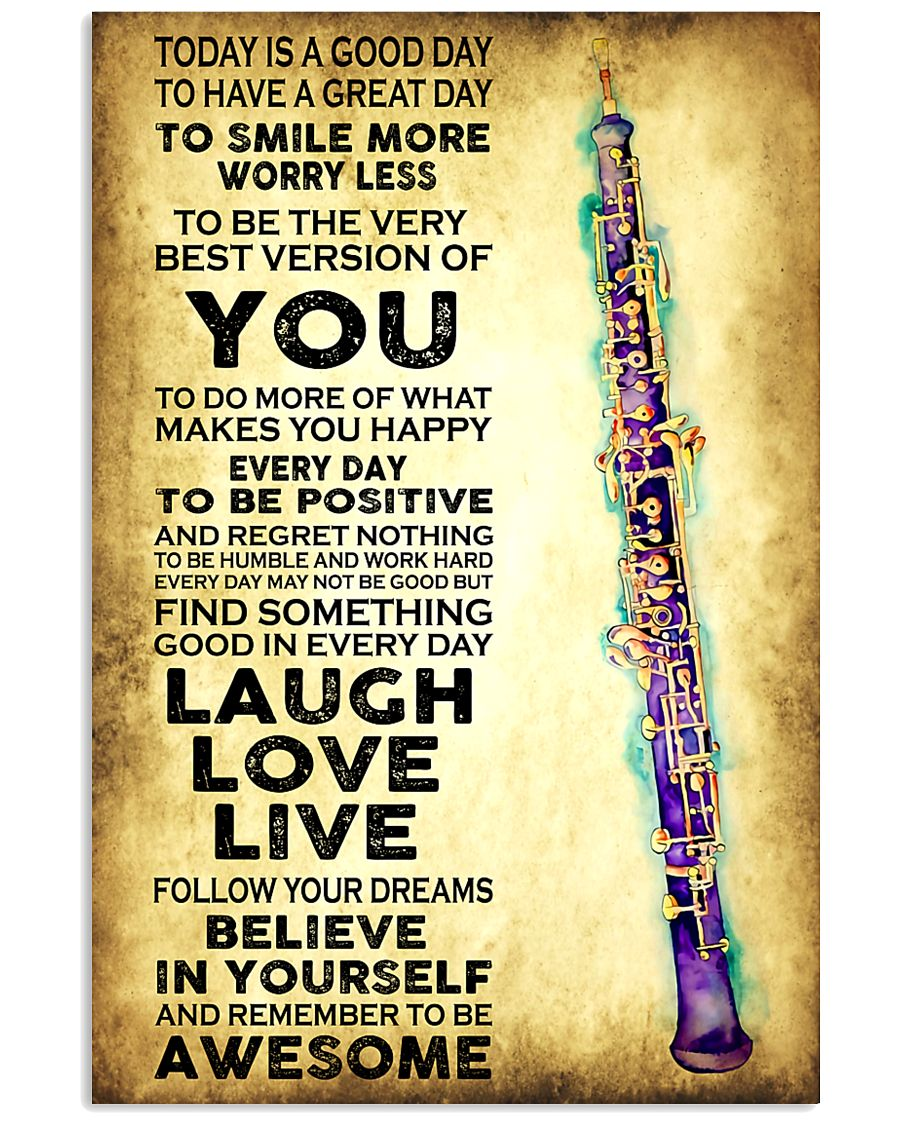 Oboe - Today is a good day 11x17 Poster