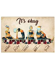Yoga It's Okay To Make Mistakes 17x11 Poster front
