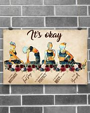Yoga It's Okay To Make Mistakes 17x11 Poster poster-landscape-17x11-lifestyle-18