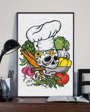 Skull Chef with vegestable 11x17 Poster lifestyle-poster-2