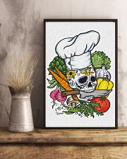 Skull Chef with vegestable 11x17 Poster lifestyle-poster-3