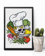 Skull Chef with vegestable 11x17 Poster lifestyle-poster-8