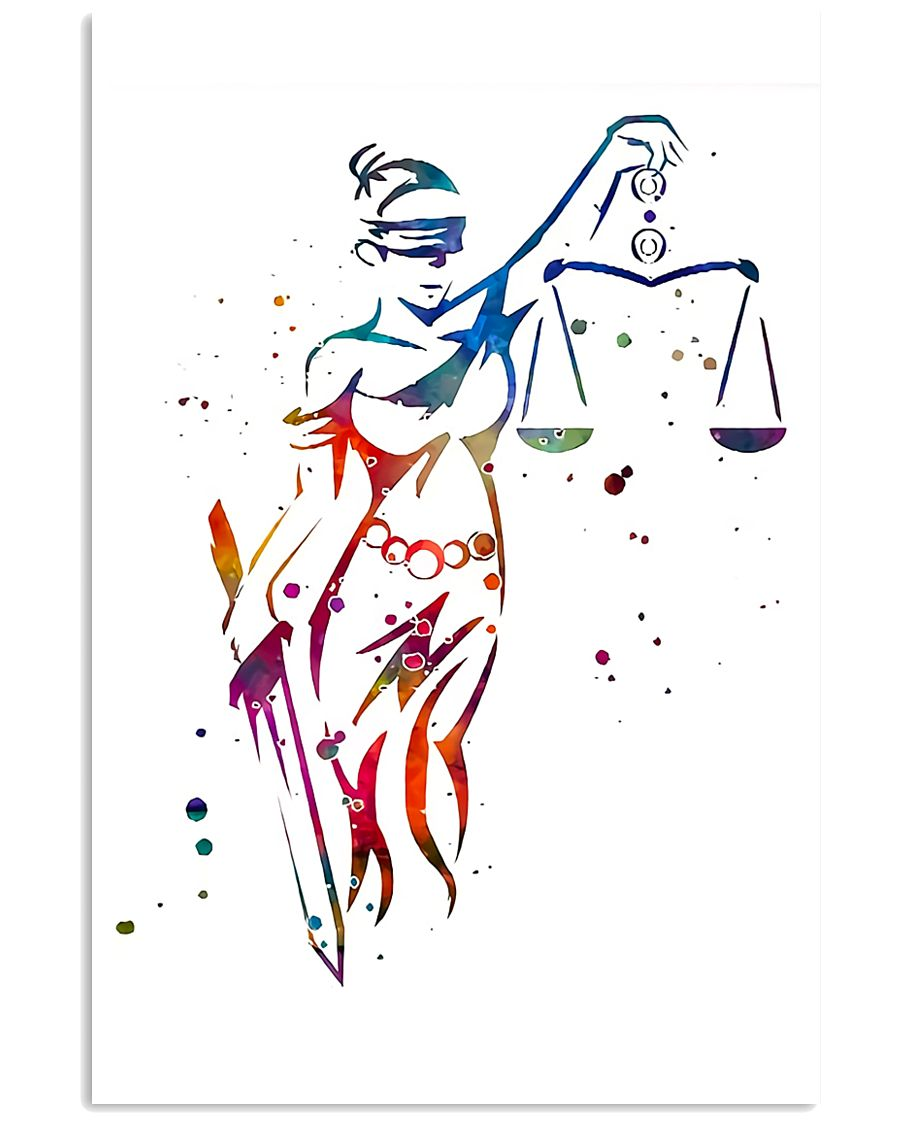 Themis Lady Justice Paralegal  11x17 Poster