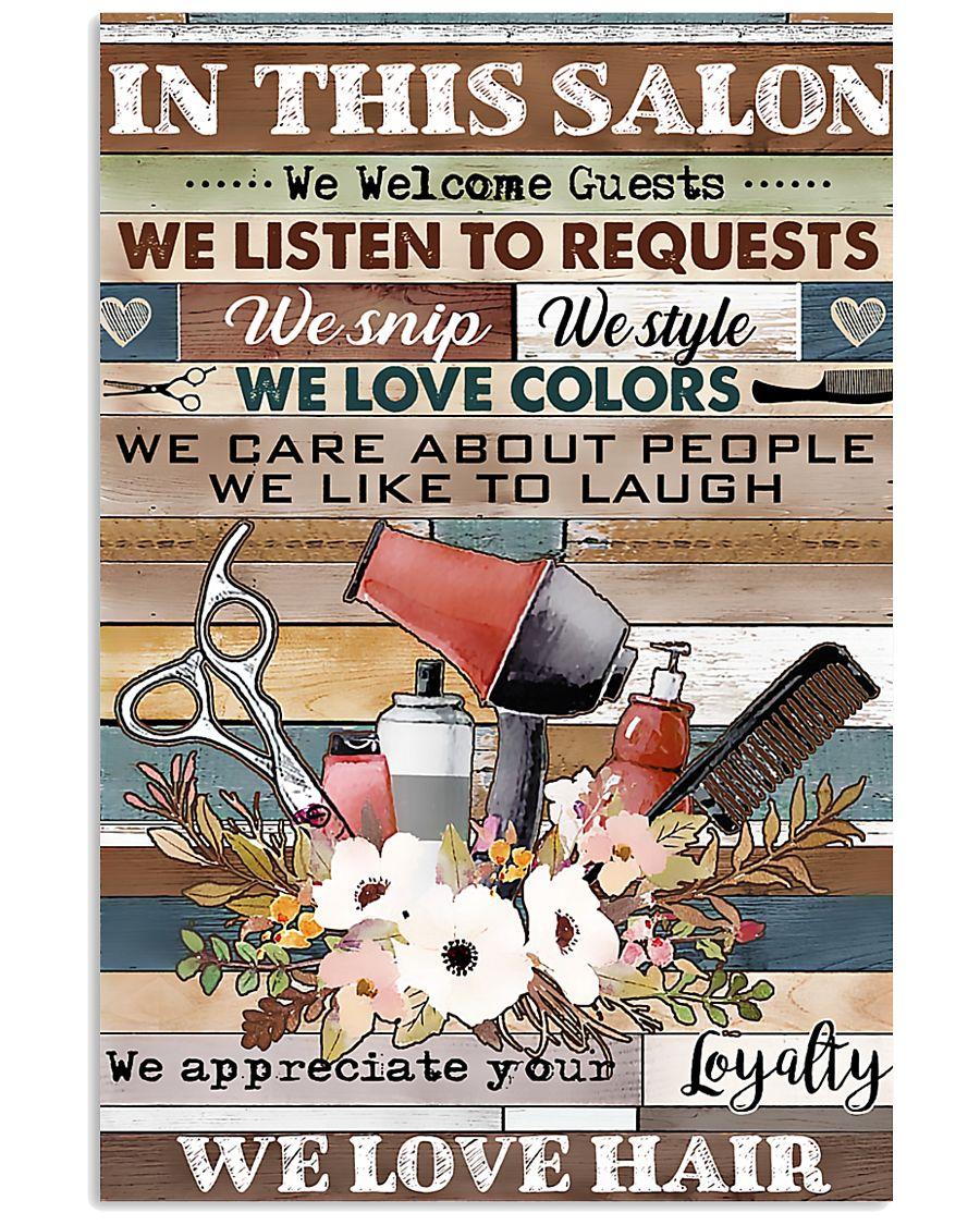 Hairdresser We Love Hair 11x17 Poster