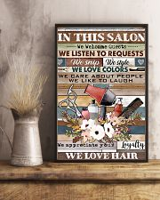Hairdresser We Love Hair 11x17 Poster lifestyle-poster-3