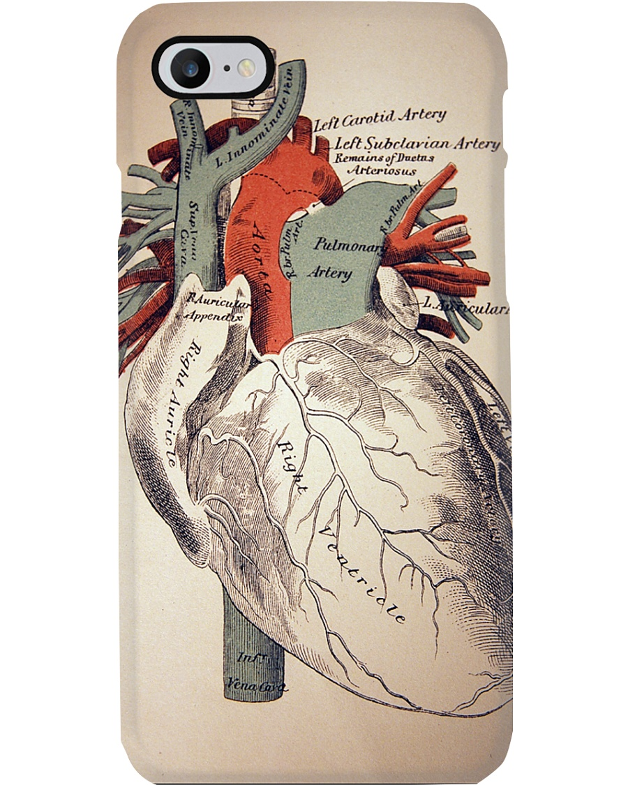 Paramedic Anatomy Human Heart Phone Case