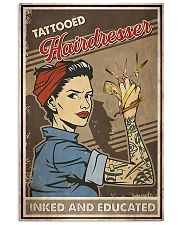 Hairdresser Tattooed Inked And Educated 11x17 Poster front