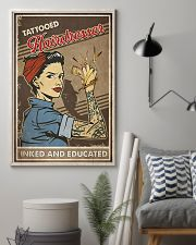 Hairdresser Tattooed Inked And Educated 11x17 Poster lifestyle-poster-1