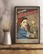 Hairdresser Tattooed Inked And Educated 11x17 Poster lifestyle-poster-3