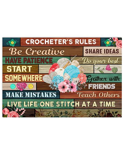 Crochet And Knitting - Crocheter's Rules