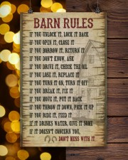 Horse Girl Barn Rules  11x17 Poster aos-poster-portrait-11x17-lifestyle-24