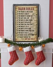 Horse Girl Barn Rules  11x17 Poster lifestyle-holiday-poster-4